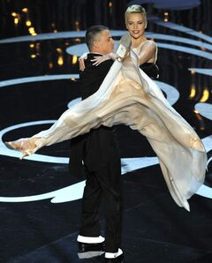Channing Tatum and Charlize Theron perform during the 85th Academy Awards show at the Dolby Theatre in Los Angeles, Calif., Sunday.