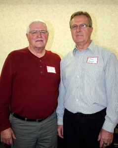 Walter Hilhorst (left) of Killarney and Ron Toews of Plum Coulee are among the 2013 inductees.