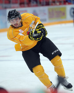 Right-winger Peter Quenneville, who has missed the past 10 games, skated in a full practice with the Wheat Kings on Wednesday.