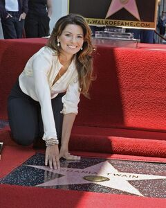 Shania Twain, the Canadian singer who is the top-selling female country artist of all time, touches her new star of the Hollywood Walk of Fame at dedication ceremonies in Los Angeles on June 2, 2011. 56 Canadian-born celebrities have stars on the Hollywood Walk of Fame. THE CANADIAN PRESS/AP, Reed Saxon