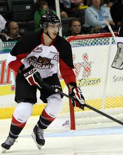 In his first season with the Cougars and fourth year in the WHL,  Dallas Ehrhardt is serving as an alternate captain.