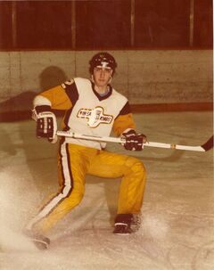 Cam Plante during his playing days with the Brandon Wheat Kings.