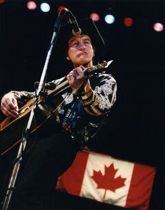 Stompin' Tom Connors in concert at Winnipeg's Pantages Playhouse in the early-'90s.