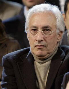 FILE - Producer Steven Bochco listens to the Democratic debate between presidential hopefuls Sen. Hillary Rodham Clinton, D-N.Y., and Barack Obama, D-Ill., in Los Angeles in this Thursday, Jan. 31, 2008 file photo. The groundbreaking creative mind behind