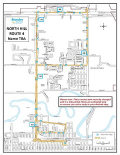 One of the two new Brandon bus routes for North Hill service.