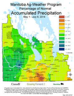 There has been a lot of moisture across the province so far in 2014.