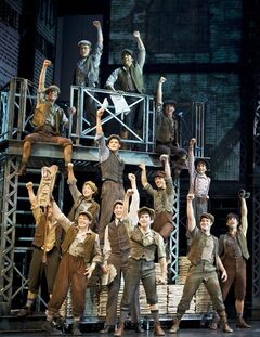In this photo provided by Disney Theatrical Productions, the cast is shown from the musical