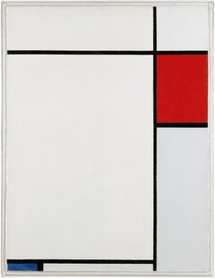 This image made available by the London auction house Sotherby's on Wednesday May 14, 2014, shows a work by Dutch artist Piet Mondrian untitled