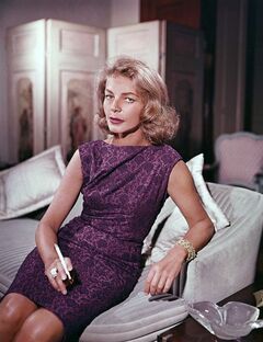 FILE - This 1965 file photo shows actress Lauren Bacall at her home in New York. Bacall, the sultry-voiced actress and Humphrey Bogart's partner off and on the screen, died Tuesday, Aug. 12, 2014 in New York. She was 89. (AP Photo, File)