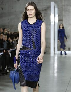 Fashion from the Reed Krakoff Fall 2014 collection is modeled during Fashion Week on Wednesday, Feb. 12, 2014, in New York. (AP Photo/Kathy Willens)