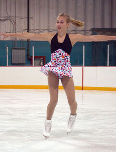 Skate Brandon's Tori Thiessen works on her program in practice on Thursday.