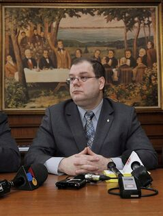 Mario Beaulieu, President of the Societe Saint-Jean-Bapiste, is pictured in Beauharnois, Que. on Feb. 2, 2009. Mario Beaulieu says he has collected enough signatures to join the Bloc Quebecois leadership race. THE CANADIAN PRESS/Graham Hughes