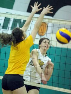 Paige Thomson helped lead Neelin to the AAAA volleyball title.