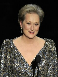 FILE - In a Feb. 24, 2013, file photo Meryl Streep appears at the Oscars at the Dolby Theatre in Los Angeles. Streep was nominated for an Academy Award for best actress on Thursday, Jan. 16, 2014, for her role in