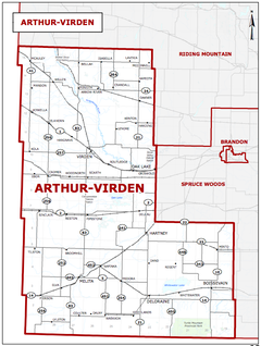 The Manitoba riding of Arthur–Virden.