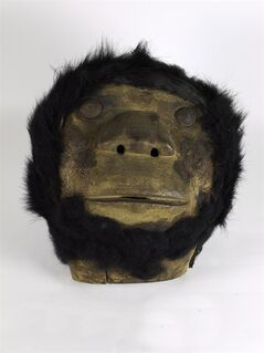 A Sasq'ets mask, commonly know as sasquatch, is seen in this undated handout photo. Bigfoot sightings may be elusive, but a sasquatch mask missing for 75 years was easily found after a simple request from a British Columbia First Nation. THE CANADIAN PRESS/ HO, Museum of Vancouver