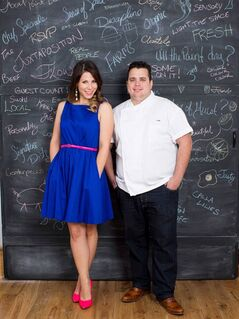"Event planner Rebecca Wise and Splendido and chef Victor Barry from the show ""Dining INNvasion,"" are pictured. THE CANADIAN PRESS/HO"