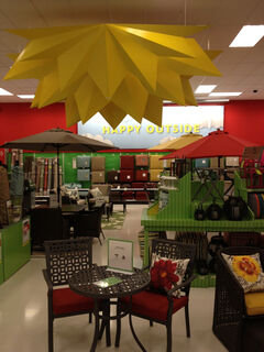 Patio furniture had a big display in the new Target.