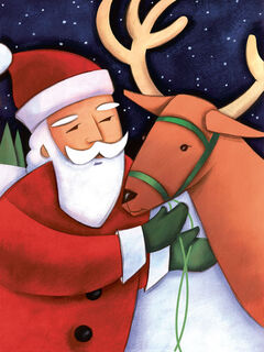 "You know Dasher and Dancer and Prancer and Vixen, as well as Comet and Cupid and Donner and Blitzen. Or do you really? Those characters were introduced in the poem, ""A Visit from St. Nicholas,"" better known as 'Twas the Night Before Christmas."" Literary authorities remain uncertain about the identity of the poem's author. However, Robert L. May and Johnny Marks, in a story and song respectively, mentioned Santa's sleigh-pulling reindeer in passing, but made Rudolph the Red-Nosed Reindeer famous. Gene Autry's recording of the tune sealed the deal. But while he of the glowing proboscis may be the star of the show, like most lead actors, he couldn't do what he does without a back-up cast and crew that allow him to, well, shine! So while he usually keeps a lower profile, one of the other reindeer agreed to share his thoughts about his long-time gig and his famous colleague."