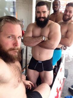 A photo of Canada's four-man bobled team before a weight check, is shown from Justin Kripps' Twitter page (Kripps shown at left), accessed from North America on Friday Feb. 7, 2014. The photo is suspected to be the reason behind the alleged censoring of Kripp's page by the Russian state. THE CANADIAN PRESS/HO