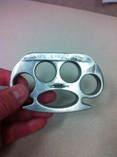 A 16-year-old Brandon teen was found with brass knuckles Saturday evening.