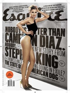 This magazine cover image released by Esquire shows actress Cameron Diaz on the August issue of the men's magazine, on newsstands on July 18, 2014, the same day Diaz's new move,