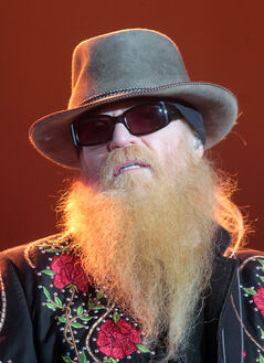ZZp Top bassist Dusty Hill.