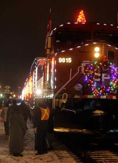 The Canadian Pacific Holiday Train will stop in Brandon near Assiniboine Avenue across from the CP Railway station tonight at 8 p.m. Performing on the boxcar stage will be Doc Walker and Miss Emily.