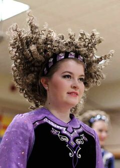 Payton Echert's hair bounces up and down as she dances with the McConnell School of Dance at the Irish pavilion at the Royal Oak Inn and Suites on the opening evening of the 10th annual Lieutenant Governor's Winter Festival.