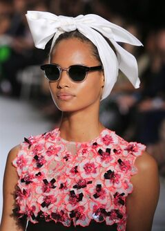 A model wears a creation by Italian-born fashion designer Giambattista Valli, as part of his Fall Winter 2014-15 Haute Couture collection, presented in Paris, Monday, July 7, 2014. (AP Photo/Jacques Brinon)