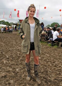 A woman attends the Glastonbury Festival in England in this undated handout image. THE CANADIAN PRESS/ho-Alistair Guy