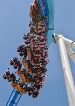 FILE - This May 9, 2013 file photo released by Cedar Point shows riders testing the new, $30 million winged rollercoaster called GateKeeper at Cedar Point park in Sandusky, Ohio.Cedar Point, the company's flagship park in Sandusky added two new family rides this year with just enough thrill to keep the entire family happy. (AP Photo/Cedar Point, File)