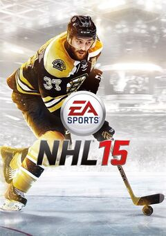 The cover of Electronic Arts NHL15 video game featuring Patrice Bergeron of the Boston Bruins is shown in a handout phioto. THE CANADIAN PRESS/HO-Electronic Arts
