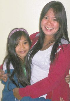 Shaina Tacaldo, 9, and her mom, Sarah, were recently reunited in Russell under a child-run fundraising program called Kids Helping Kids.