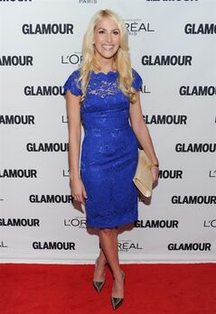FILE - This Nov. 11, 2013 file photo shows honoree Kaitlin Roig-DeBellis attending the 23rd Annual Glamour Women of the Year Awards at Carnegie Hall in New York. Roig-DeBellis, a teacher at Sandy Hook Elementary School who helped save students' lives during a mass shooting, has a book deal. G.P. Putnam's Sons for