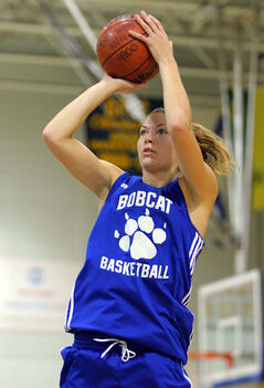 Bobcats forward Jaynell Gillett has worked hard since arriving at Brandon University last year to make the transition from track to basketball.