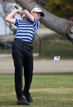 Glenboro's Zach Wytinck watches a drive on Saturday at Shilo.
