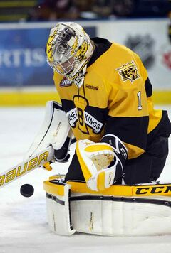 Brandon Wheat Kings goaltender Corbin Boes will be among CHLers appearing on  player cards in Post cereals.