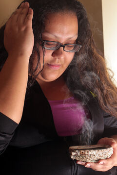 Brandon University nursing student Justine Chartrand uses the smudging room in the Indigenous People's Centre at various times throughout the week. The BU smudging room has a dedicated ventilation system.