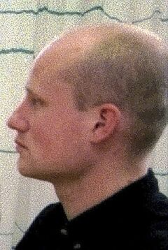 FILE - This 1998 photo shows Volkert van der Graaf during an environmental group meeting in Gendringen, Netherlands. The animal rights activist, 33-year-old Volkert van der Graaf, who assassinated Dutch politician Pim Fortuyn in 2002 is due to be released Friday May 2, 2014, after serving just under 12 years of an 18-year sentence. (AP Photo/Theo Kock, File)