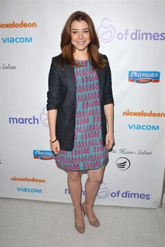 FILE - This Dec. 7, 2012 file photo shows actress Alyson Hannigan from the CBS comedy,