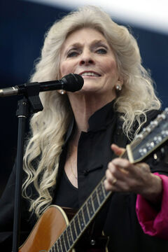 Judy Collins performs at George Wein's Newport Folk Festival 50 in 2009.