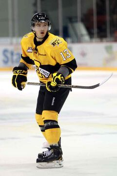 The Brandon Wheat Kings traded forward Alessio Bertaggia to Spokane.