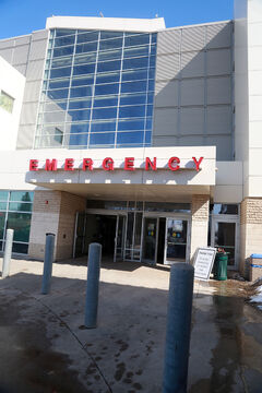 "Recent photos show the emergency door of the Brandon Regional Health Centre. BRHC sees about 27,000 patients per year, but not all of those visits are necessary. Between April 16, 2013, and March 17, 2014, there were 551 visits that were marked under ""minor complaints,"" according to a complaint summary obtained by the Brandon Sun through a freedom of information request. The top reasons for visiting the ER including abdominal pain, lacerations and punctures, and shortness of breath."