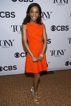FILE - In this May 1, 2013 file photo, Valisia LeKae attends the 2013 Tony Awards Meet the Nominess press reception in New York. On a day that Broadway was celebrating at the Tony Awards nominations, there was another, bigger reason to cheer: One of their own was cancer-free. LeKae, a budding Broadway star who earned a Tony nomination playing Diana Ross in the hit show