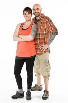 Married teammates Jen and Shawn King pose in this undated handout photo. Halifax parents Jen and Shawn King were eliminated from the second episode of 'The Amazing Race Canada' after Shawn dislocated his shoulder while surfing. THE CANADIAN PRESS/HO - Bell Media