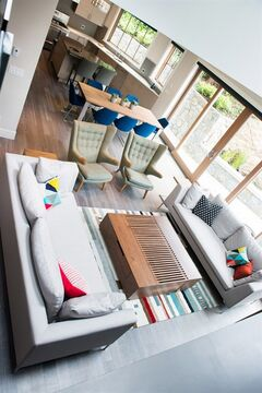 Open-concept spaces create the illusion of more space in homes that might have smaller square footages, says Kyla Bidgood, a Victoria interior designer. THE CANADIAN PRESS/HO-Jen Steele Photography