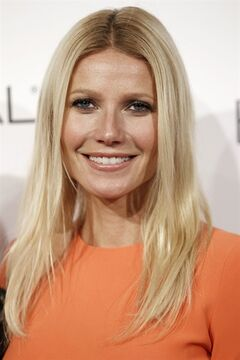 FILE - In this Oct. 18, 2010, file photo, actress Gwyneth Paltrow arrives at a ELLE magazine's 17th Annual Women in Hollywood Tribute in Beverly Hills, Calif. Paltrow and Joel Gallen are returning to produce 'Stand Up to Cancer' for a second time and other stars from TV, film and music will encourage and accept donations from the public. The money raised supports cross-disciplinary research toward new cancer treatments. (AP Photo/Matt Sayles, File)