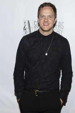 Dan Reynolds from Imagine Dragons attends the Songwriters Hall of Fame Awards on Thursday, June 12, 2014 in New York. (Photo by Charles Sykes/Invision/AP)