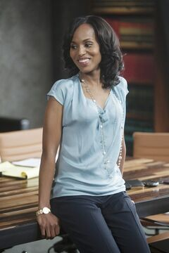 In this publicity image released by ABC, Kerry Washington is shown in a scene from the series